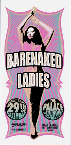 Mark Arminski Barenaked Ladies Handbill