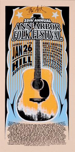 Mark Arminski Ann Arbor Folk Festival Handbill