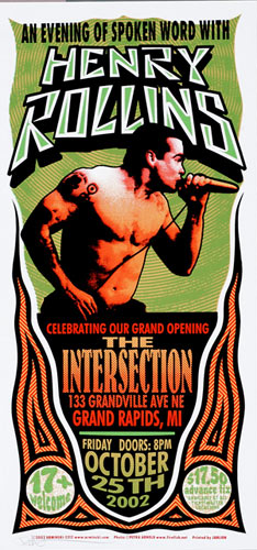 Mark Arminski Henry Rollins Poster