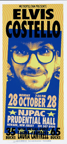 Mark Arminski Elvis Costello Handbill
