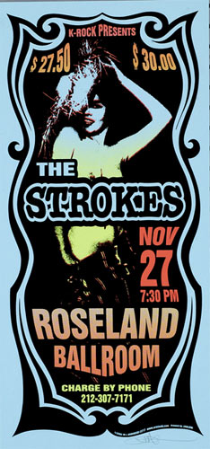 Mark Arminski The Strokes Poster