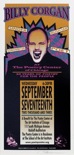Mark Arminski Billy Corgan Handbill