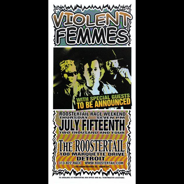 Mark Arminski Violent Femmes Handbill