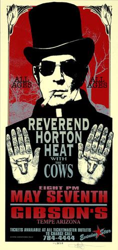 Mark Arminski Reverend Horton Heat Handbill