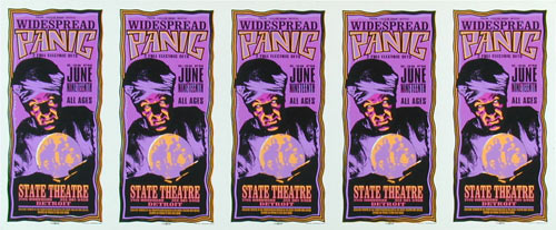 Mark Arminski Widespread Panic Uncut Handbill Sheet