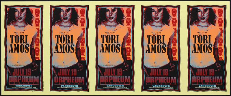 Mark Arminski Tori Amos Uncut Handbill Sheet