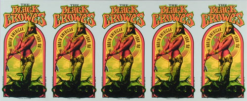 Mark Arminski Black Crowes Uncut Handbill Sheet