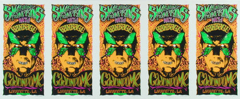 Mark Arminski Smashing Pumpkins Uncut Handbill Sheet