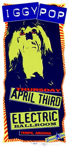Mark Arminski Iggy Pop Handbill