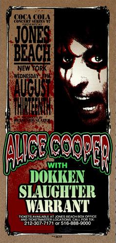 Mark Arminski Alice Cooper Handbill