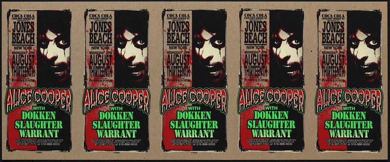 Mark Arminski Alice Cooper Uncut Handbill Sheet