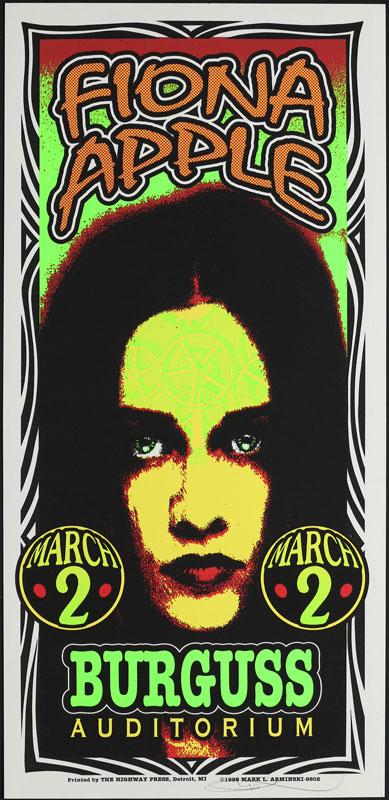 Mark Arminski Fiona Apple Poster