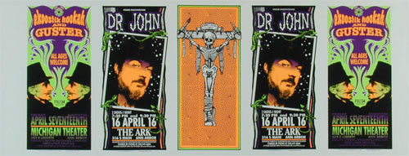 Mark Arminski Dr John / Ekoostik Hookah Uncut Handbill Sheet