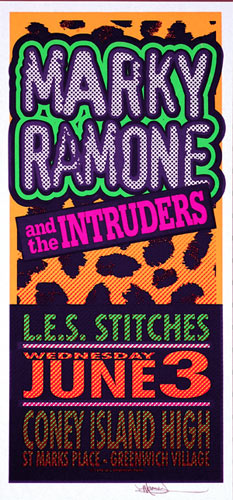 Mark Arminski Marky Ramone and the Intruders Handbill