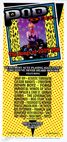 Mark Arminski Pop O.D. - Iggy Pop Tribute CD Handbill