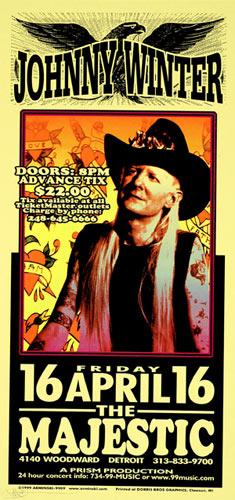 Mark Arminski Johnny Winter Poster