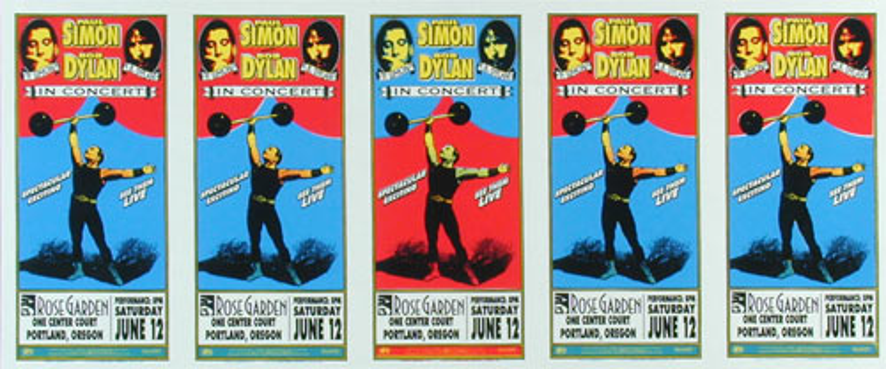 Mark Arminski Bob Dylan Uncut Handbill Sheet