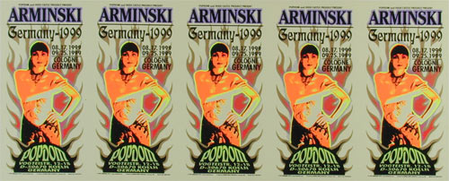 Mark Arminski Arminski Germany Show Uncut Handbill Sheet