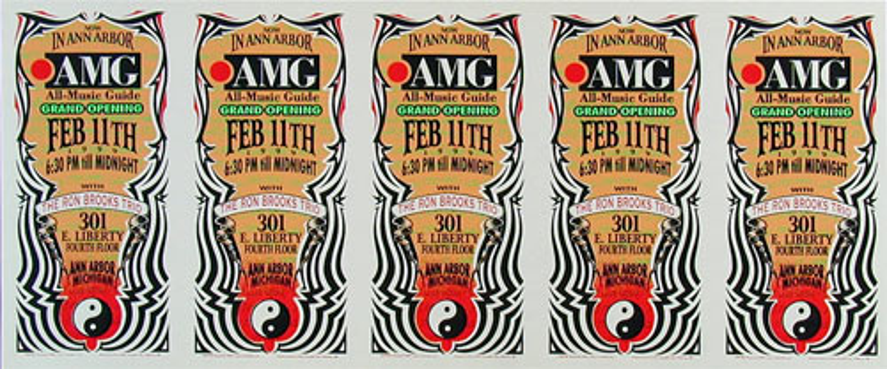 Mark Arminski All Music Guide Uncut Handbill Sheet