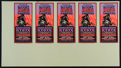 Mark Arminski Detroit Music Awards Uncut Handbill Sheet