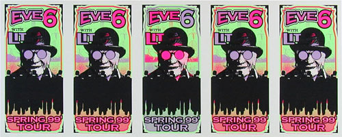 Mark Arminski Eve 6 Uncut Handbill Sheet