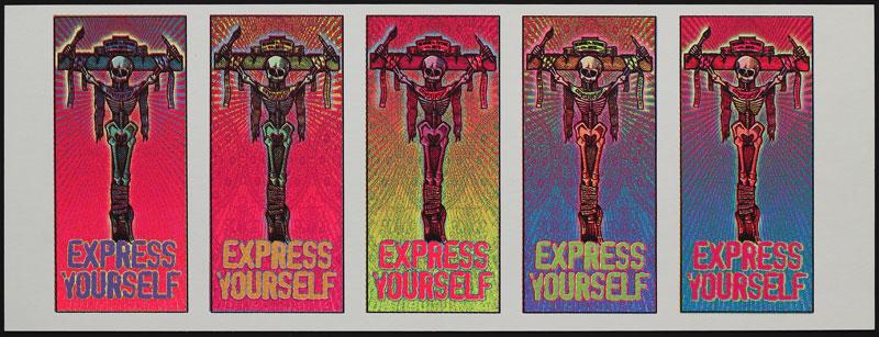 Mark Arminski Express Yourself Uncut Handbill Sheet
