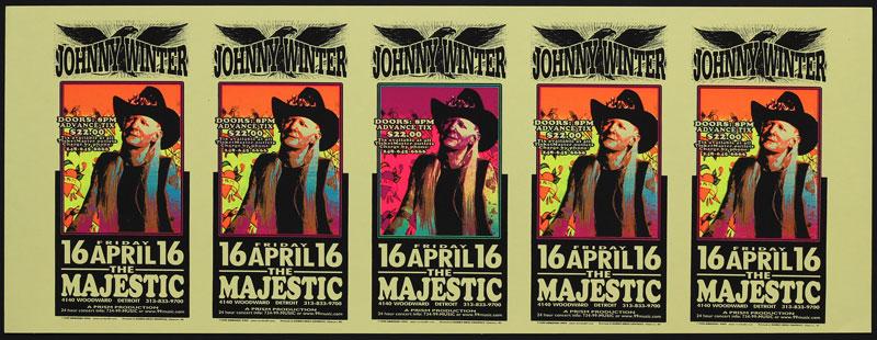 Mark Arminski Johnny Winter Uncut Handbill Sheet