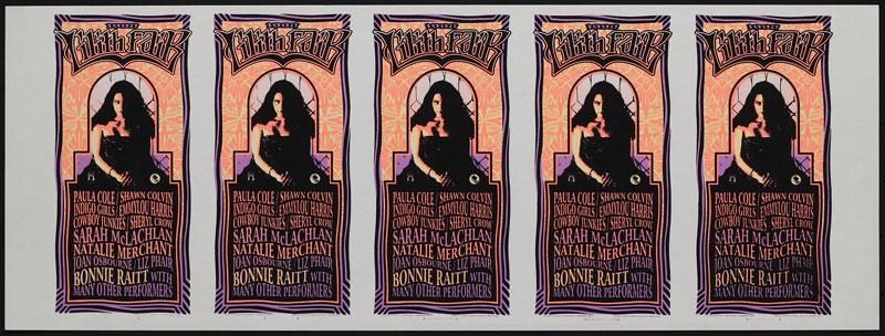 Mark Arminski Lilith Fair Uncut Handbill Sheet