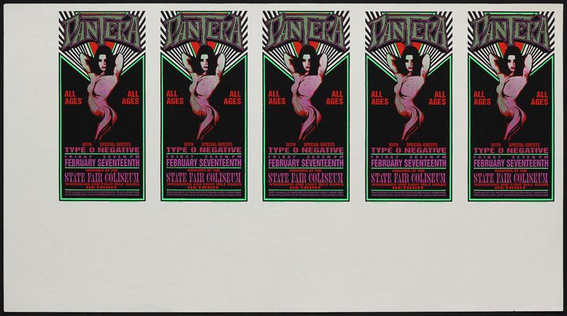 Mark Arminski Pantera Uncut Handbill Sheet