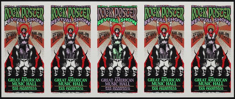 Mark Arminski Rock Poster Revival Uncut Handbill Sheet