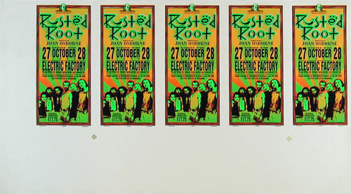 Mark Arminski Rusted Root Uncut Handbill Sheet