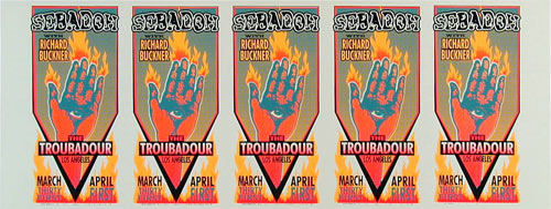 Mark Arminski Sebadoh Uncut Handbill Sheet