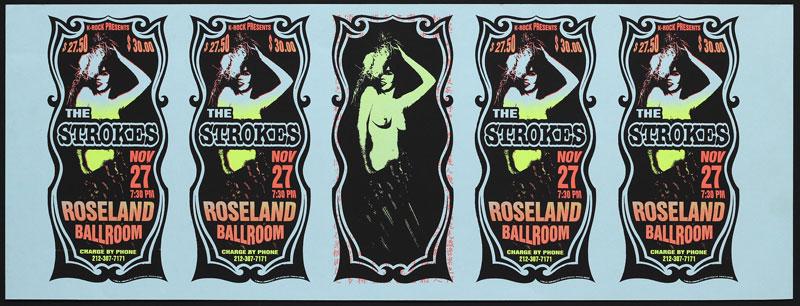 Mark Arminski The Strokes Uncut Handbill Sheet