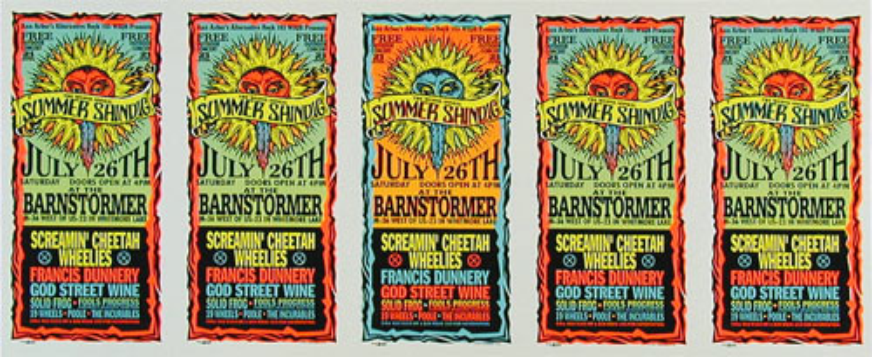Mark Arminski Summer Shindig Uncut Handbill Sheet