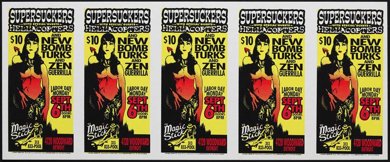 Mark Arminski Supersuckers Uncut Handbill Sheet
