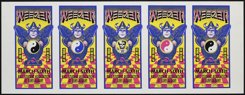 Mark Arminski Weezer Uncut Handbill Sheet
