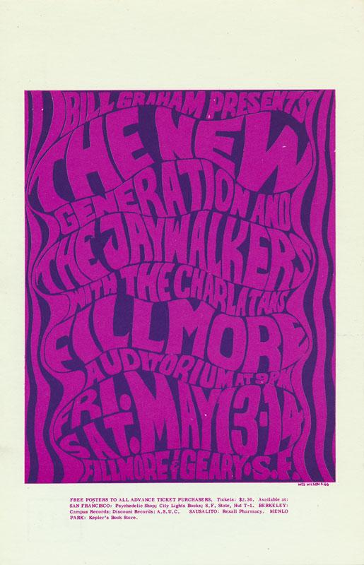 BG # 6 New Generation Fillmore postcard - stamp back BG6