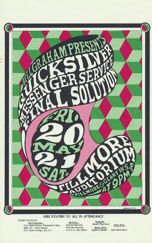 BG # 7 Quicksilver Messenger Service Fillmore postcard BG7