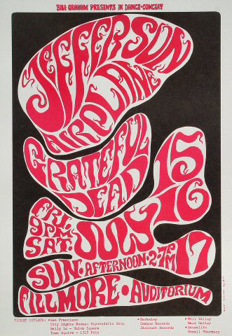 BG # 17-3 Jefferson Airplane Fillmore Poster BG17