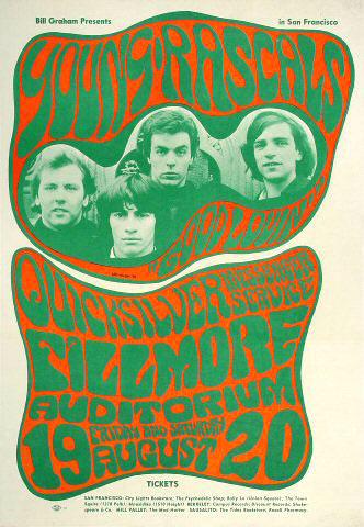 BG # 24 Young Rascals Fillmore postcard BG24