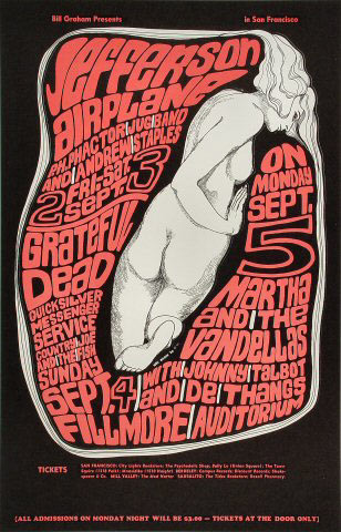 BG # 26-3 Jefferson Airplane Fillmore Poster BG26