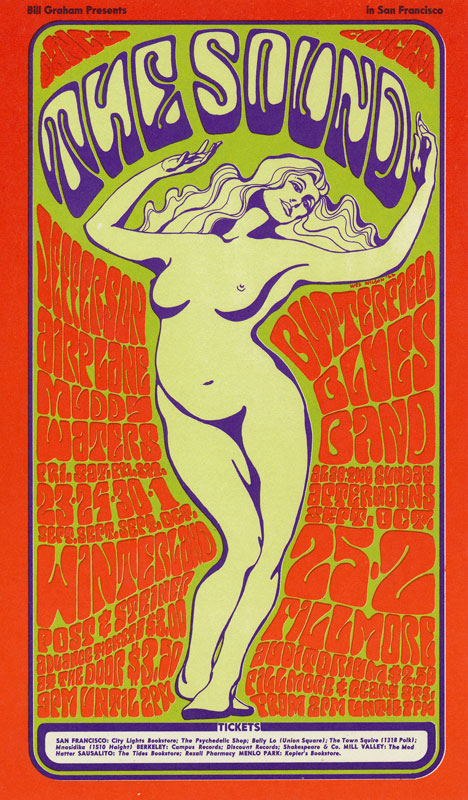 BG # 29 Jefferson Airplane Fillmore postcard BG29