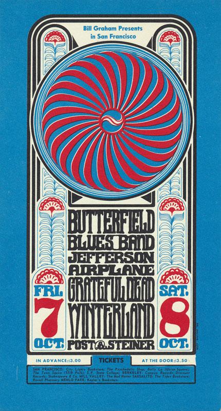 BG # 30 Butterfield Blues Band Fillmore postcard - stamp back BG30