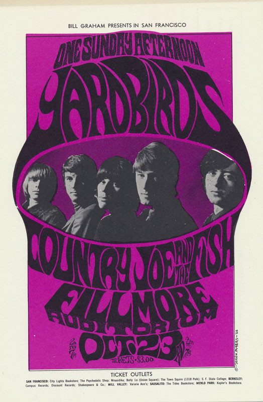 BG # 33-3 Yardbirds Fillmore Poster BG33