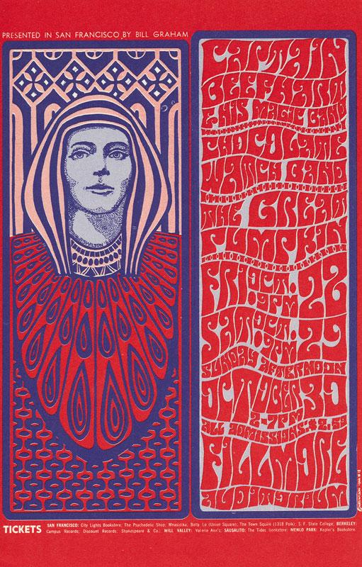 BG # 34-2 Captain Beefhart Fillmore Poster BG34