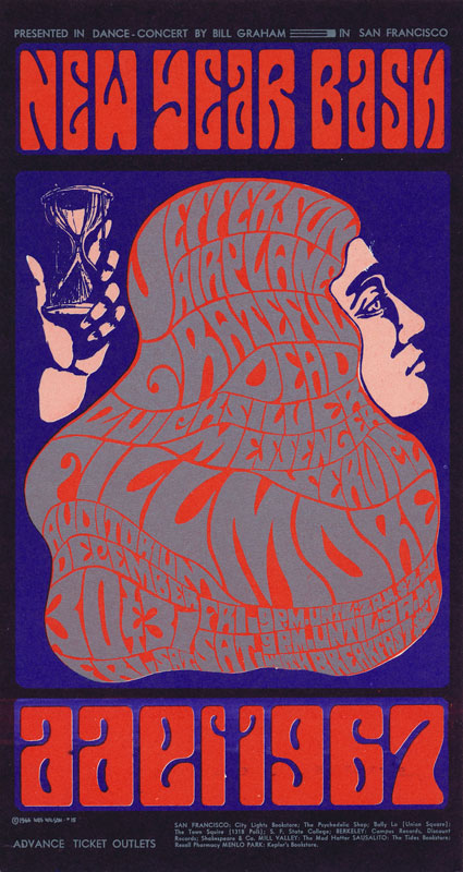 BG # 37 Jefferson Airplane Fillmore postcard BG37