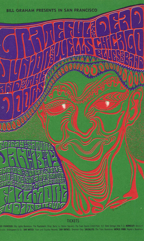 BG # 45 Grateful Dead Fillmore postcard BG45