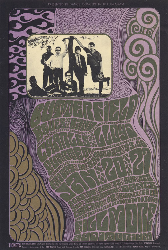 BG # 46-1 Butterfield Blues Band Fillmore Poster BG46