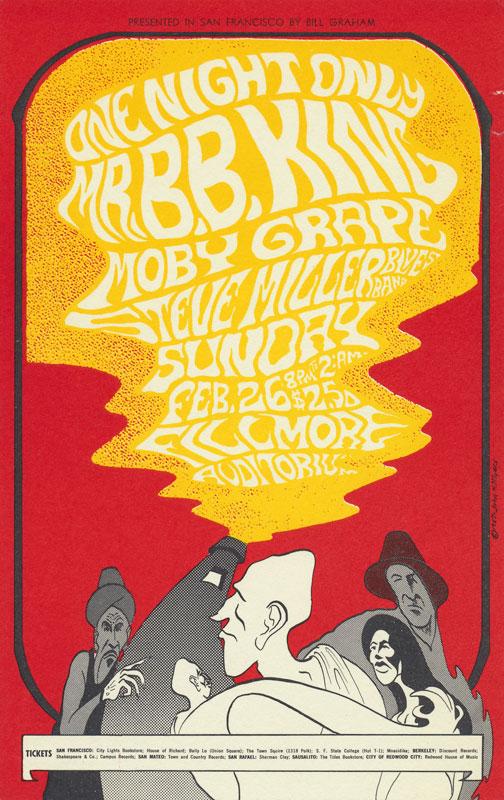 BG # 52-2 B.B. King Fillmore Poster BG52
