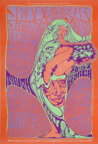 BG # 54 Jefferson Airplane Fillmore postcard BG54